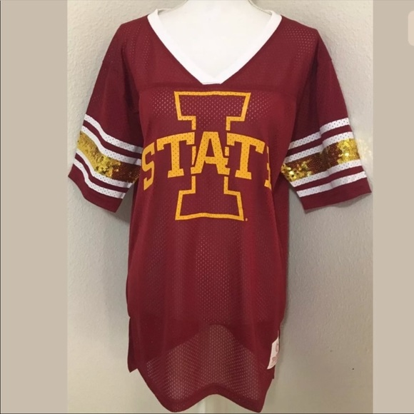 quality design 93632 3f046 Victoria's Secret PINK Iowa State Football Jersey NWT